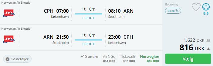 Flybilletter til Stockholm i Sverige