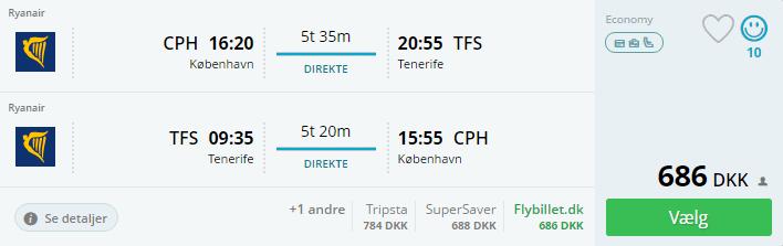Billige flybilletter til Tenerife i Spanien