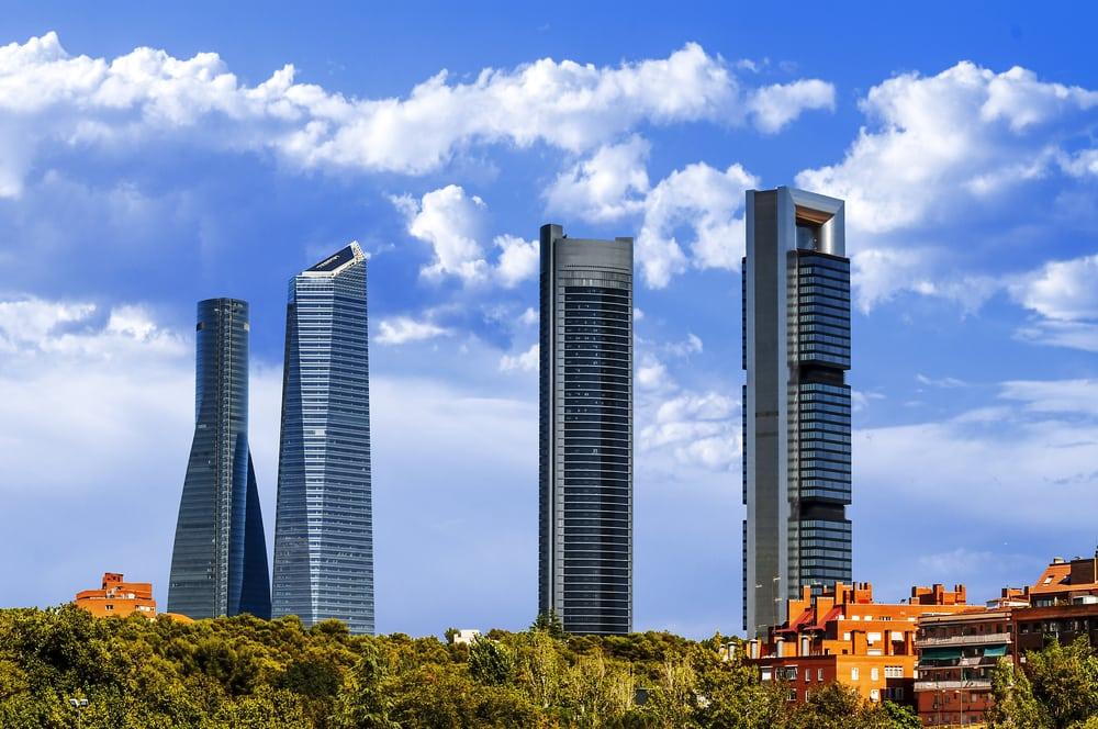 Cuatro Torres - Madrid i Spanien