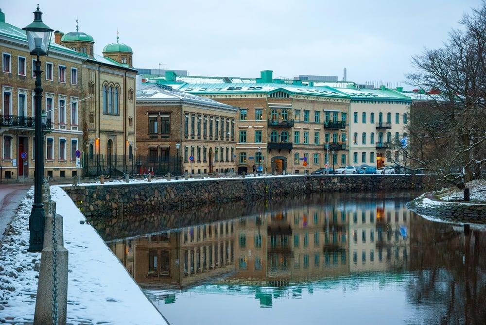 Hyggelig kanal - Göteborg i Sverige