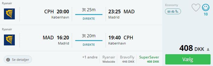 Flybilletter til Madrid i Spanien