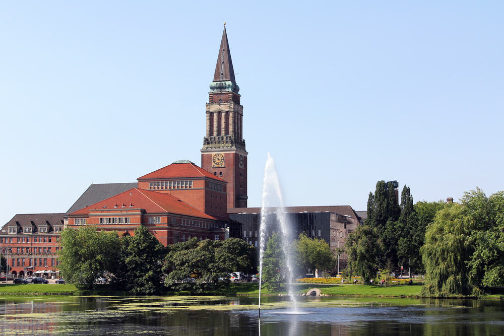 Rådhustårnet - Kiel i Tyskland