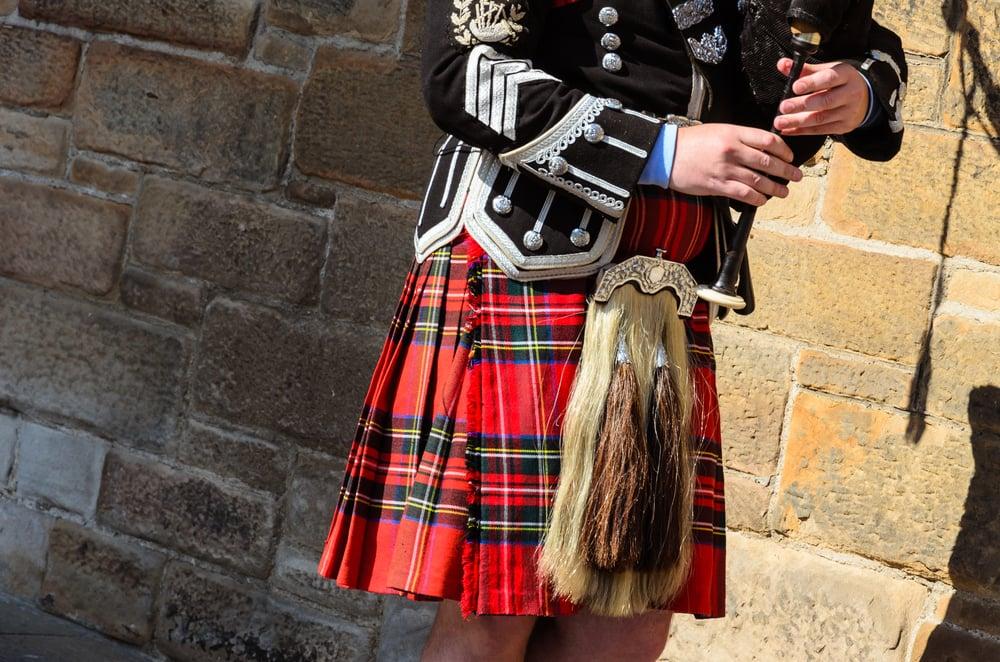 Sækkepibespiller - Edinburgh i Skotland