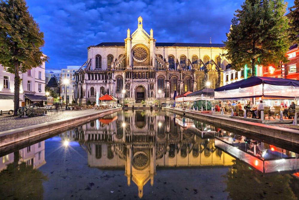 Sainte Catherine Katedralen - Bruxelles i Belgien