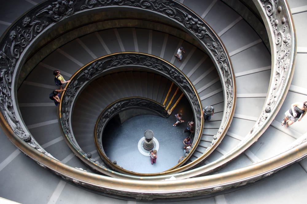 Spiraltrappe i Vatikanmuseet - Rom i Italien