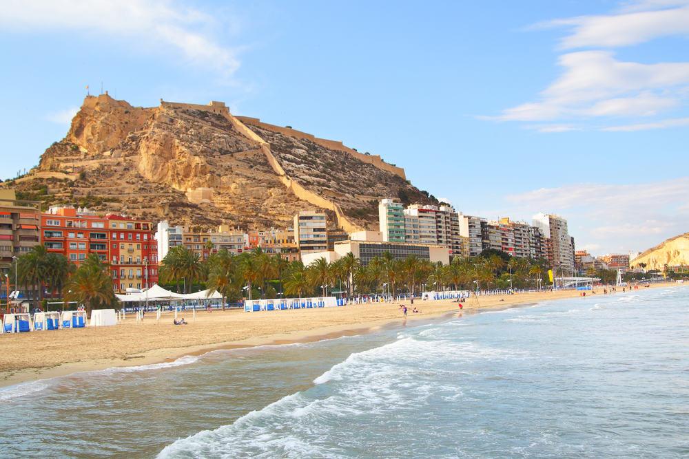 Dejlig strand - Alicante i Spanien