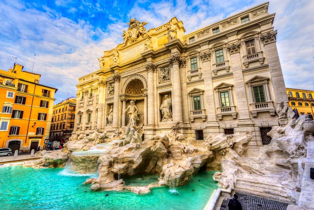 Trevi springvandet - Rom i Italien