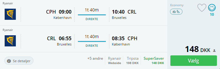 Billige flybilletter til Bruxelles i Belgien i december 2016