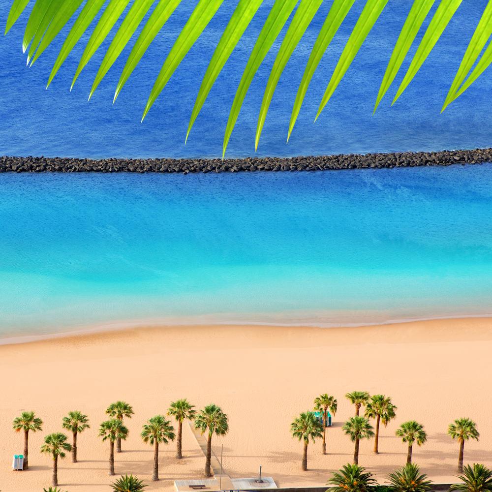 Las Teresitas stranden - Tenerife i Spanien