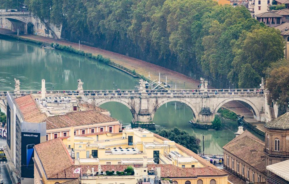 Tiberen - Rom i Italien
