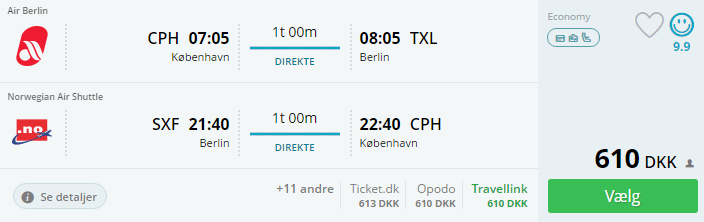 Flyv til Berlin til nytårsaften