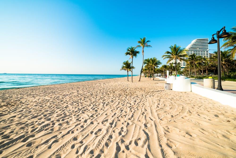 Dejlig sandstrand - Fort Lauderdale i Florida