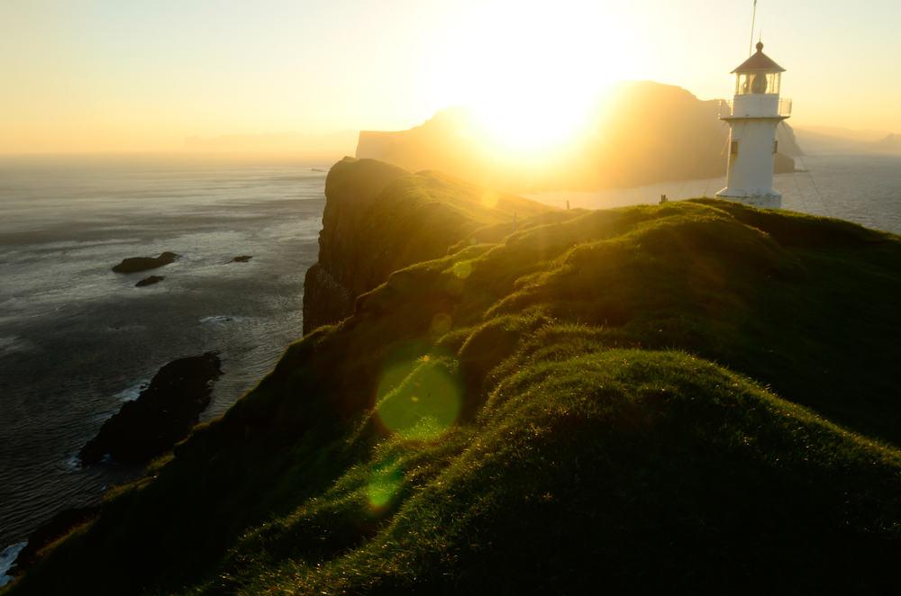 Fyrtårn på Mykines på Færøerne