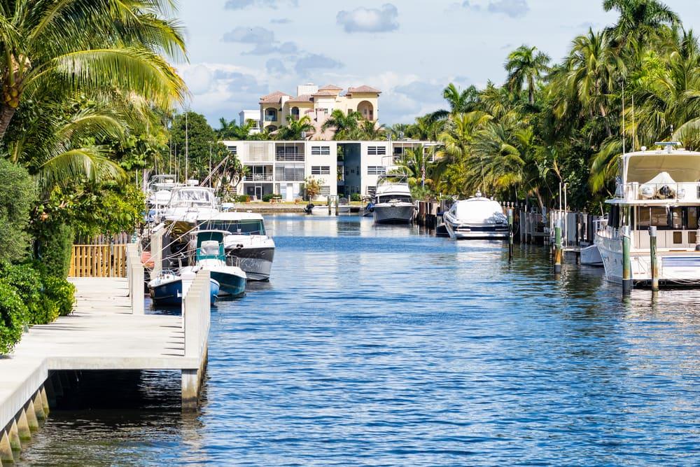 Hyggelige kanaler - Fort Lauderdale i Florida