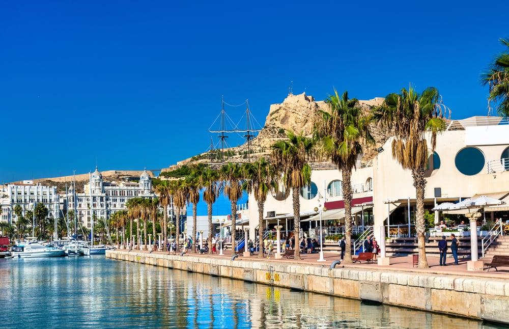 Promenaden - Alicante i Spanien