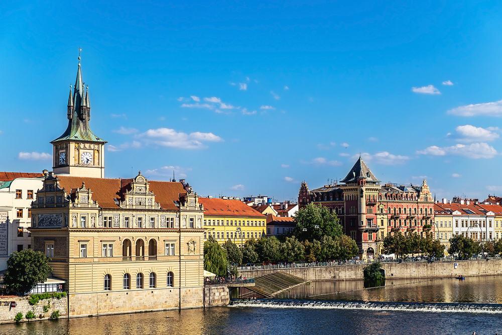 Udsigt fra Karlsbroen - Prag i Tjekkiet