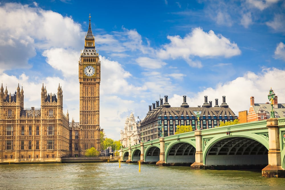 Big Ben og Houses of Parliament - London i England