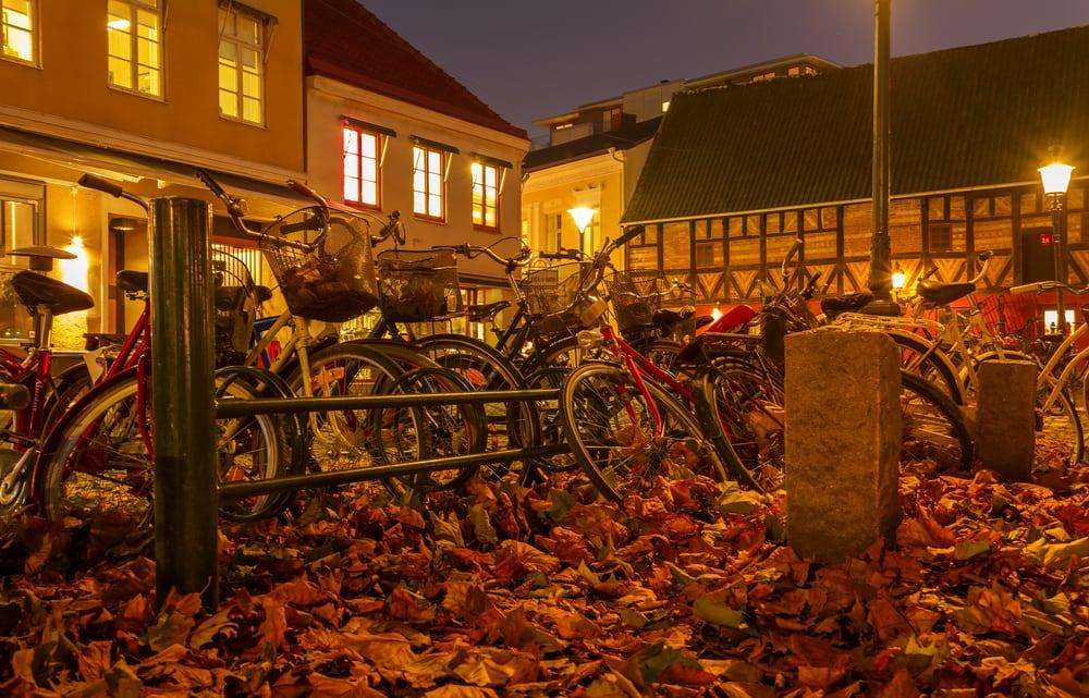 Efterår i Malmø i Sverige