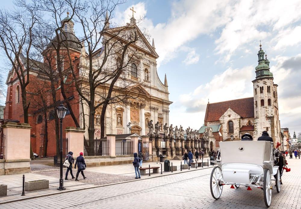 Kirke i Krakow i Polen