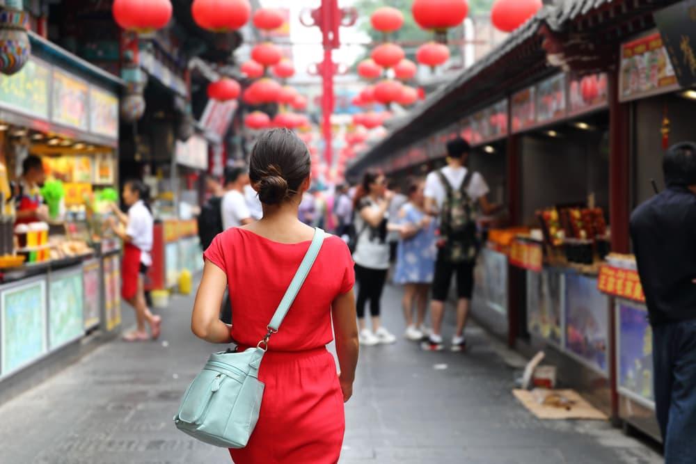 Marked i Beijing - Kina