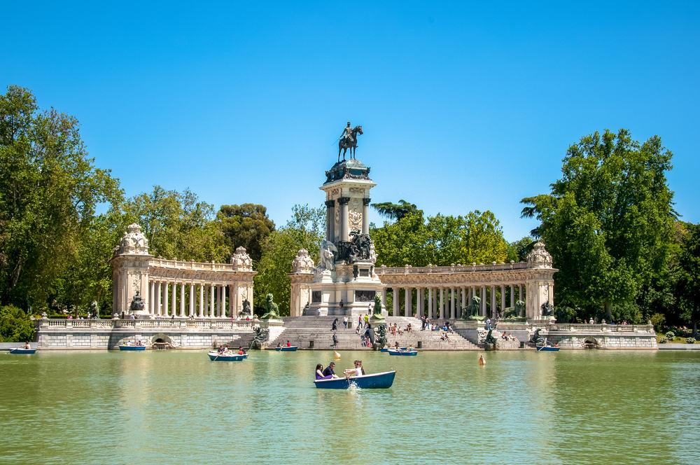 Park del Retiro - Madrid i Spanien