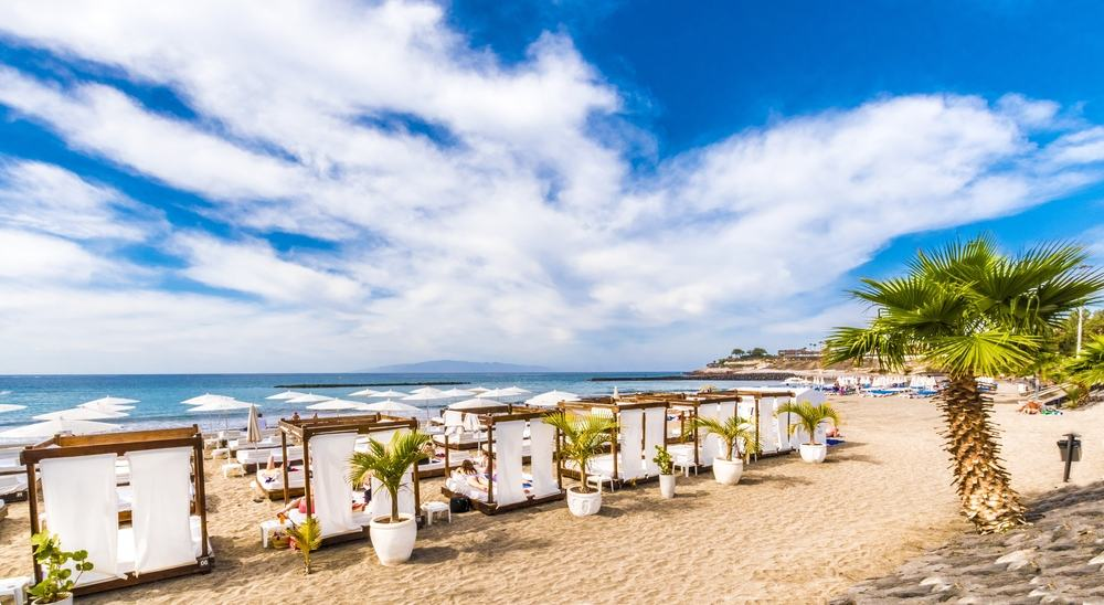 Strand - Tenerife i Spanien