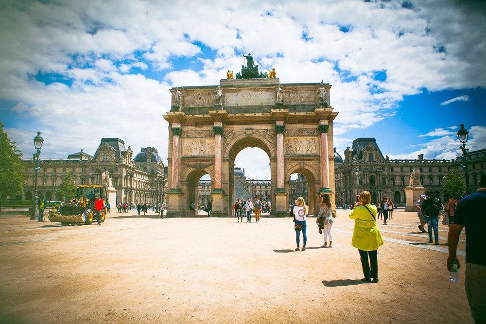 Triumfbuen i Paris i Frankrig