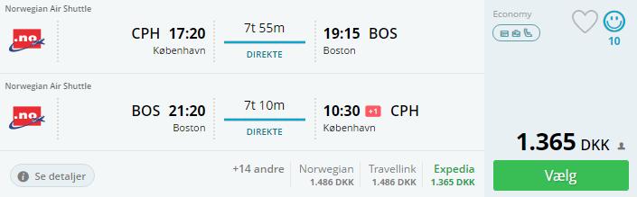 Billige flybilletter til Boston i USA