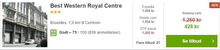 Best Western Royal Centre - Bruxelles i Belgien