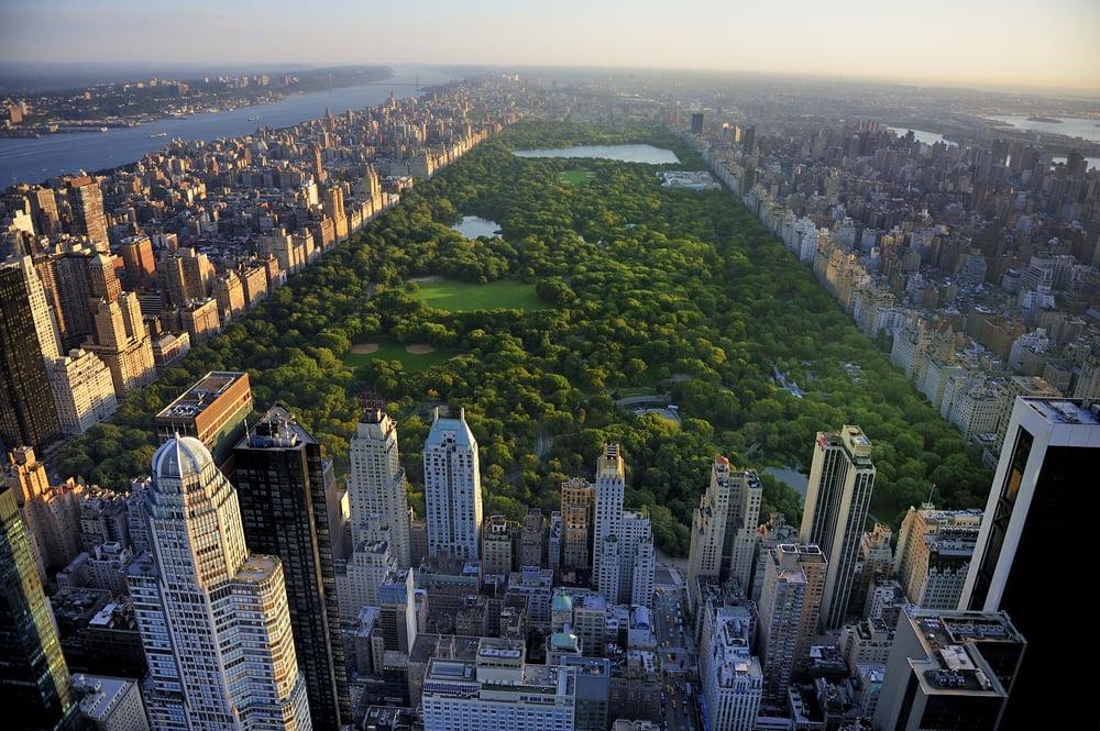 Central Park på Manhattan - New York i USA