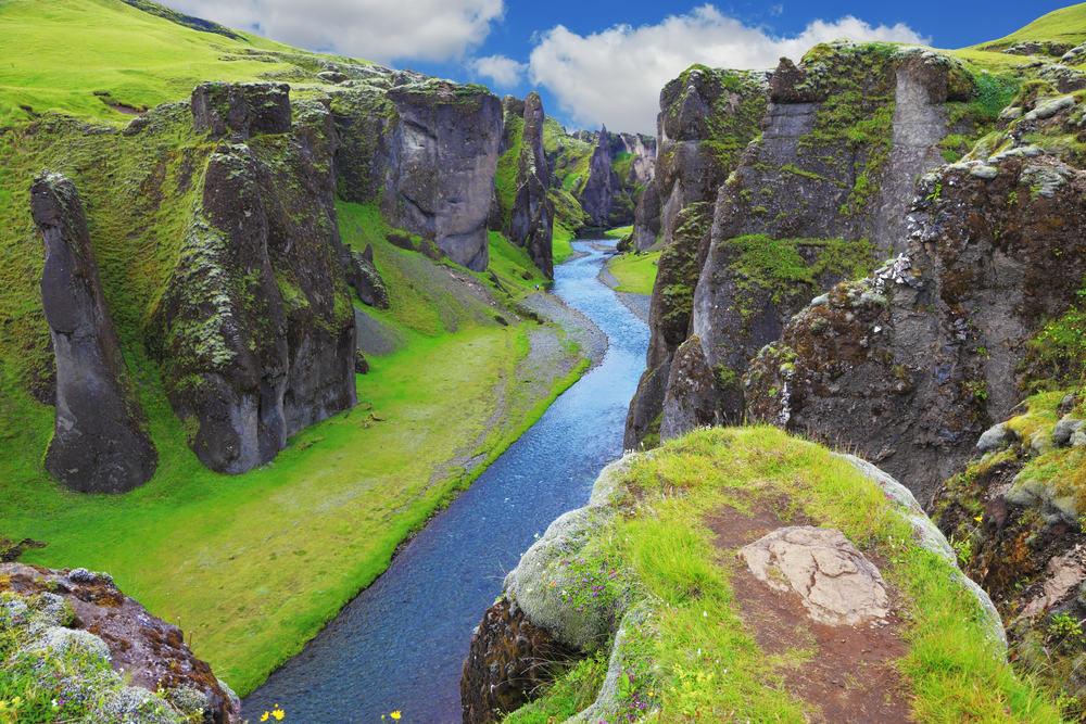 Fjadrargljufur i Island