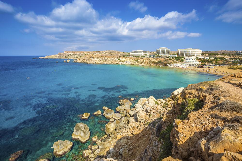 Ghajn Tuffieha - Malta i Spanien