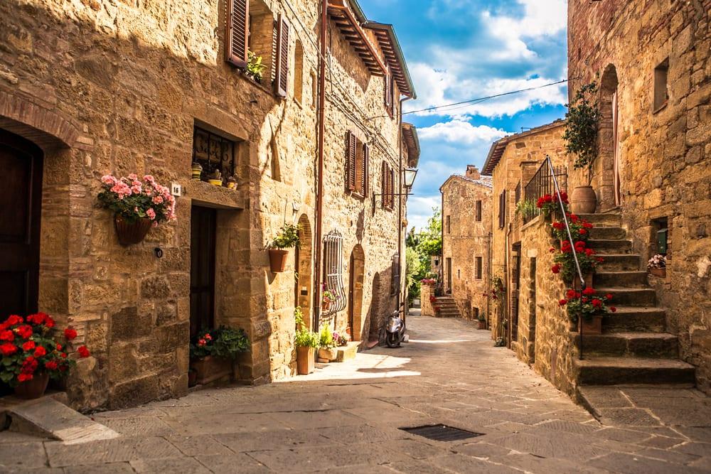 Landsby i Toscana - Italien