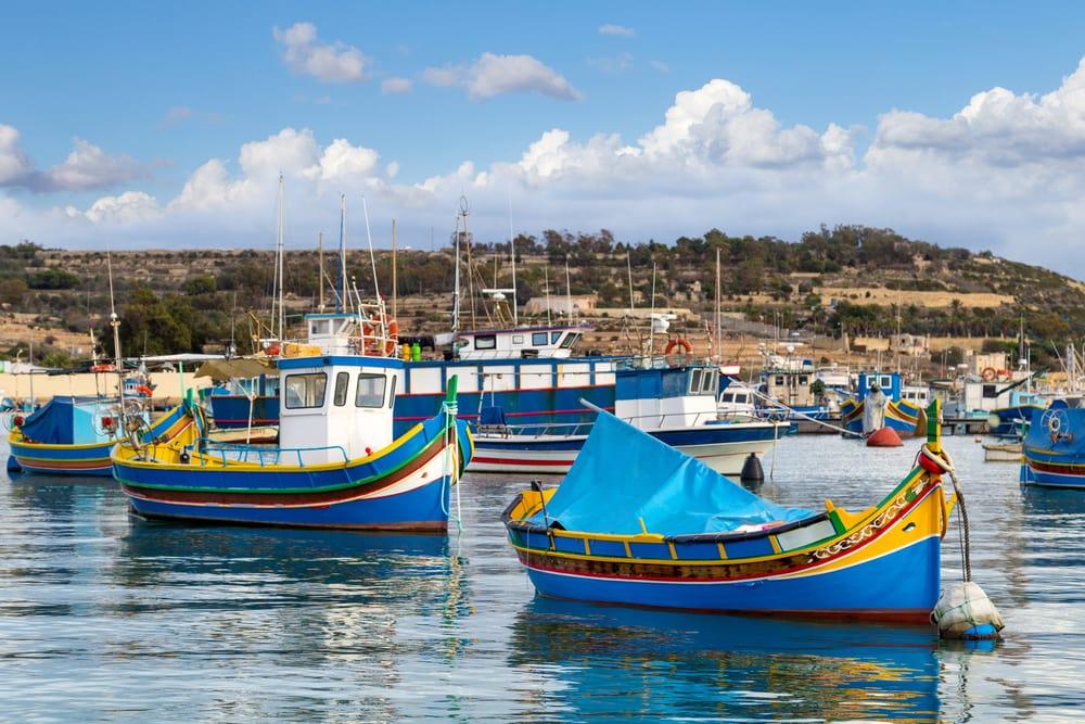 Marsaxlokk - Malta i Spanien
