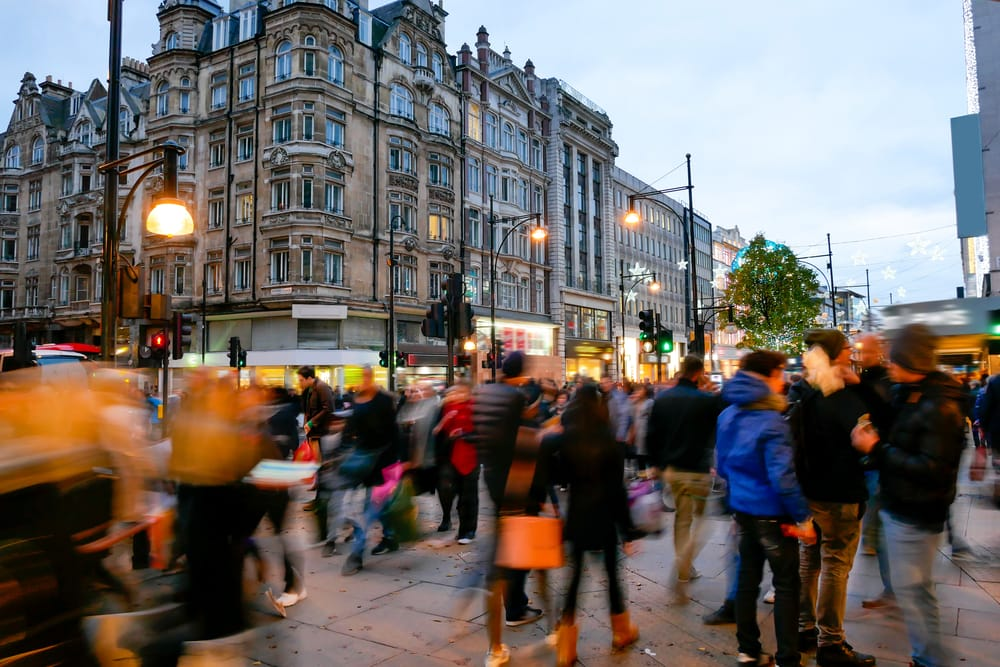 Oxford Street - London i England