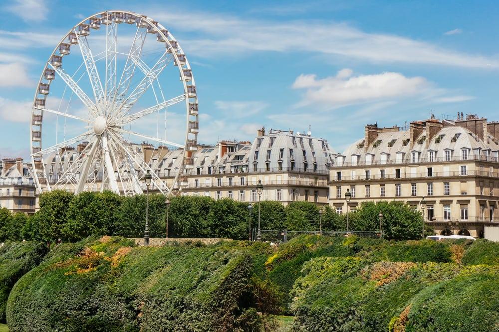 Pariserhjulet ved Place de la Concorde - Paris i Frankrig