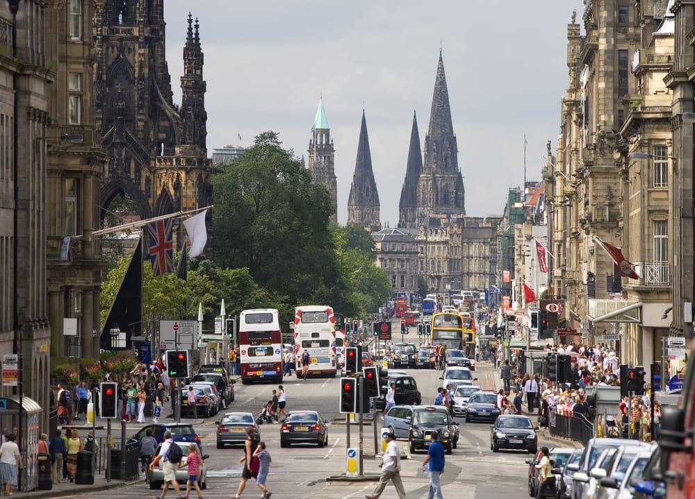 Princes Street - Edinburgh i Skotland