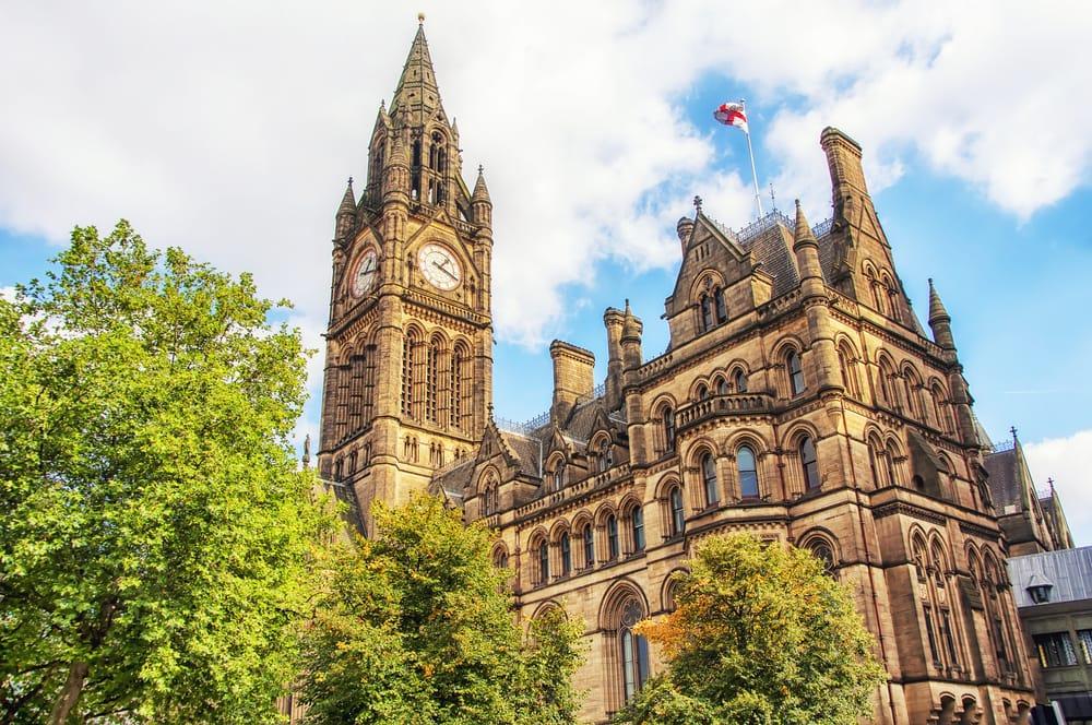 Rådhuset i Manchester - England