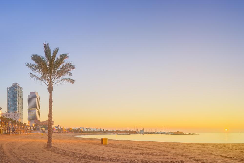Strand i Barcelona - Spanien
