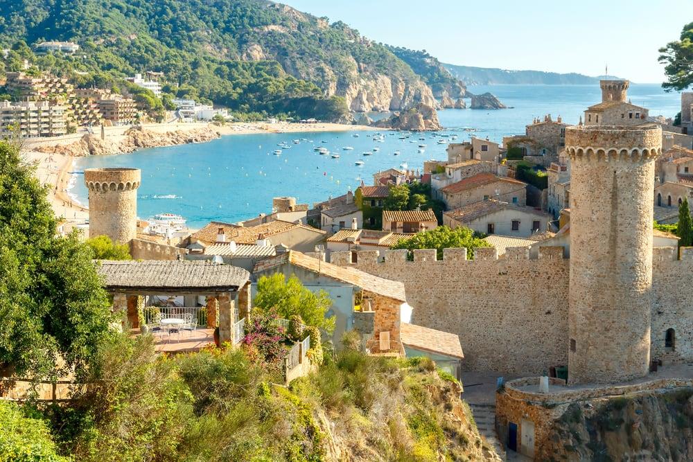Tossa de Mar - Costa Brava i Spanien