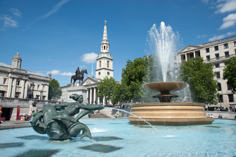 Trafalgar Square - London i England