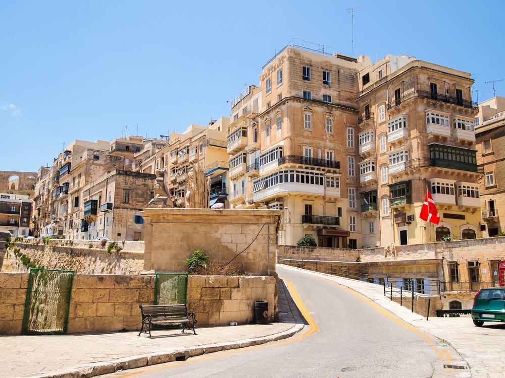 Valletta - Malta i Spanien