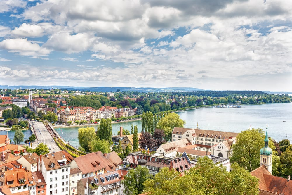 Konznanz ved Bodensee i Tyskland
