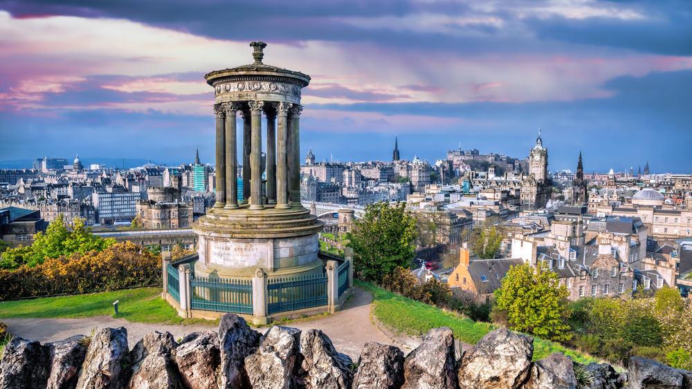 Calton Hill - Edinburgh i Skotland