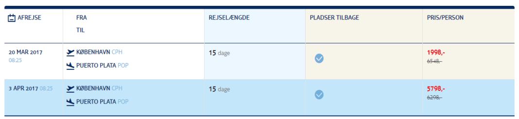 Billige flybilletter til Den Dominikanske Republik