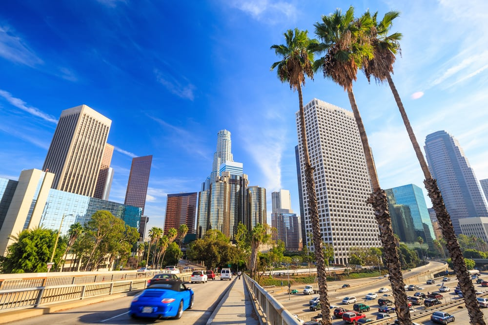 Downtown Los Angeles - Californien i USA