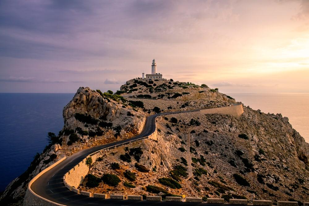 Fyrtårrn ved Cape Formentor - Mallorca i Spanien