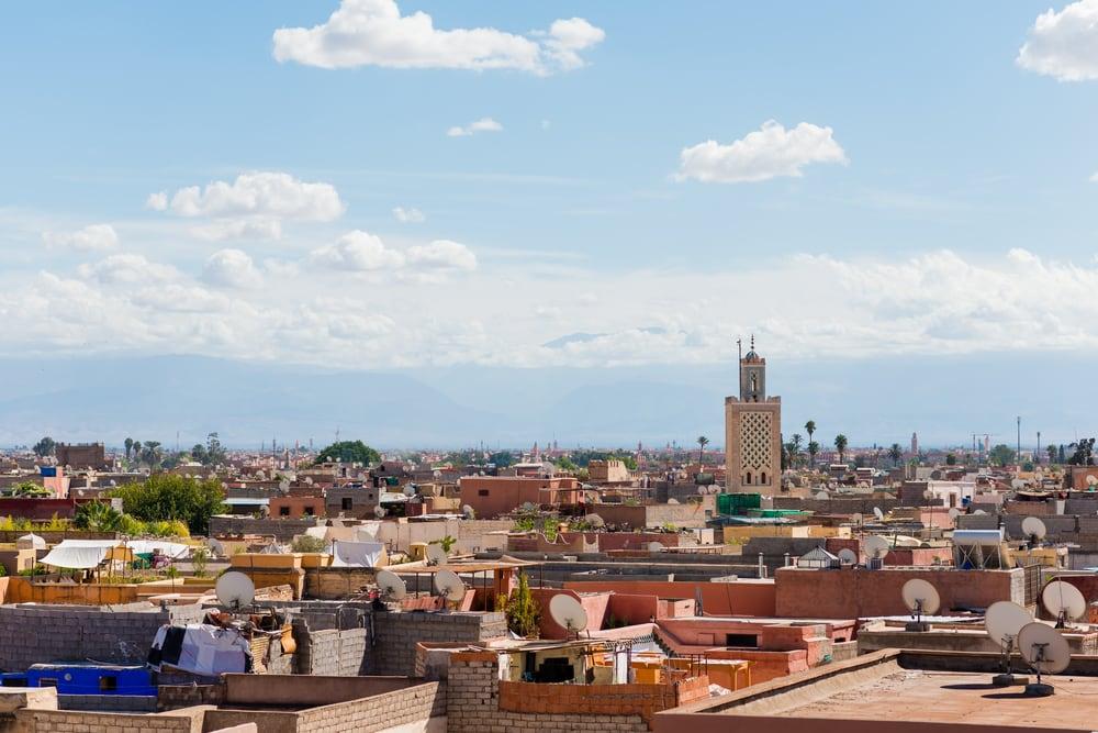 Marrakech i Marokko