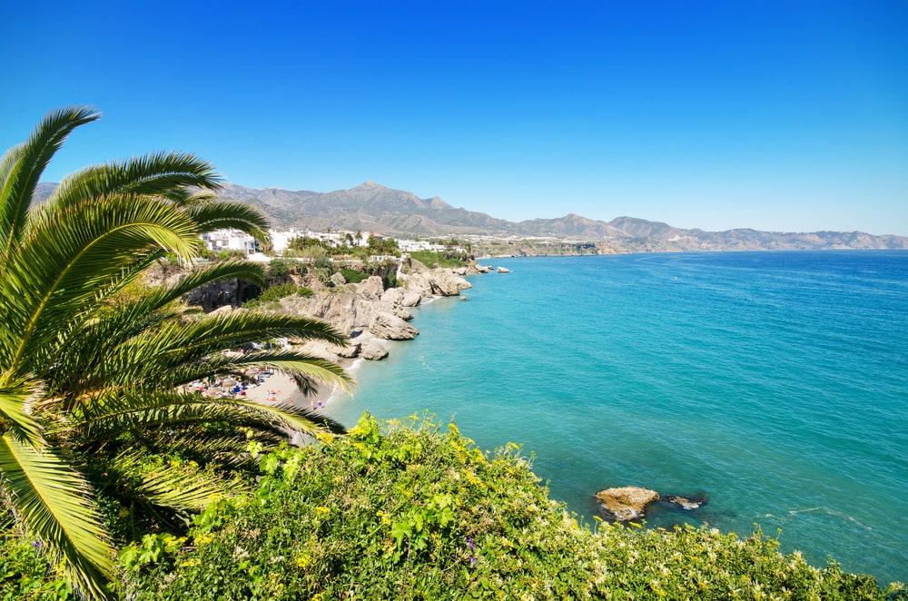 Nerja på Costa del Sol i Spanien