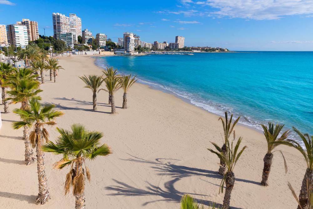 San Juan stranden - Alicante i Spanien